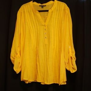 Beautiful yellow plus size 3x blouse